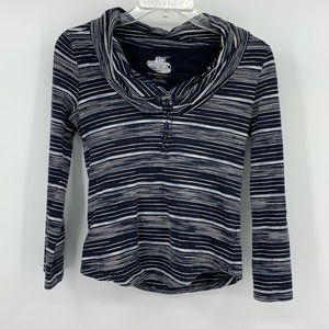 Anthropologie Pilcro Black and White Boatneck Top